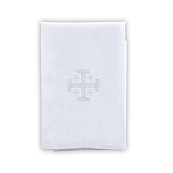 100 percent Linen Jerusalem Cross Purificator - 4/pk