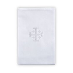 100% Linen Jerusalem Cross Lavabo Towel - 4/pk