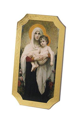 Madonna Roses Marco Sevelli Florentine Plaque - 2/pk