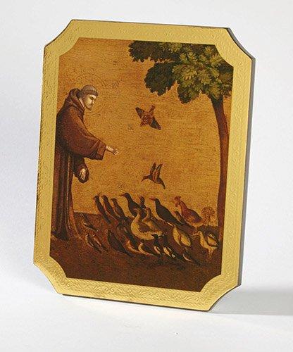 Saint Francis Marco Sevelli Florentine Plaque - 2/pk