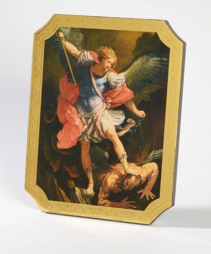 Saint Michael Marco Sevelli Florentine Plaque - 2/pk