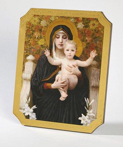 Maddona Lillies Marco Sevelli Florentine Plaque - 2/pk