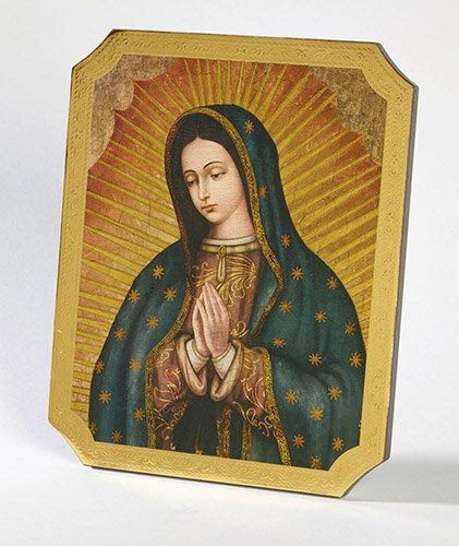 Our Lady of Guadalupe Marco Sevelli Florentine Plaque - 2/PK
