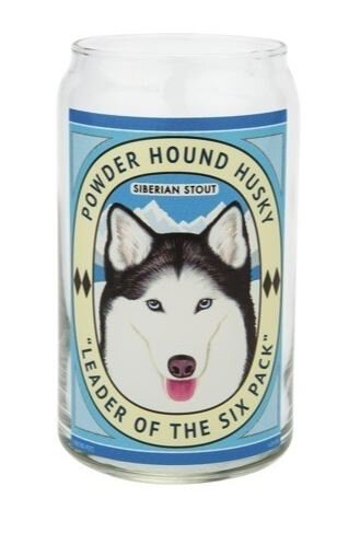Beer Can Glass Powder Hound Husky