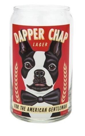 Beer Can Glass Dapper Chap