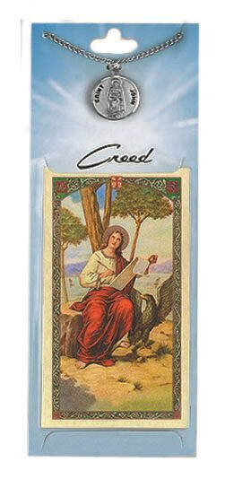 St. George Prayer Card with Pewter Medal