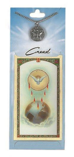 Holy Spirit Prayer Card with Pewter Medal
