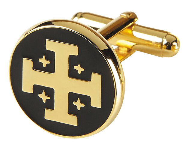Jerusalem Cross Cufflinks - 2/pr