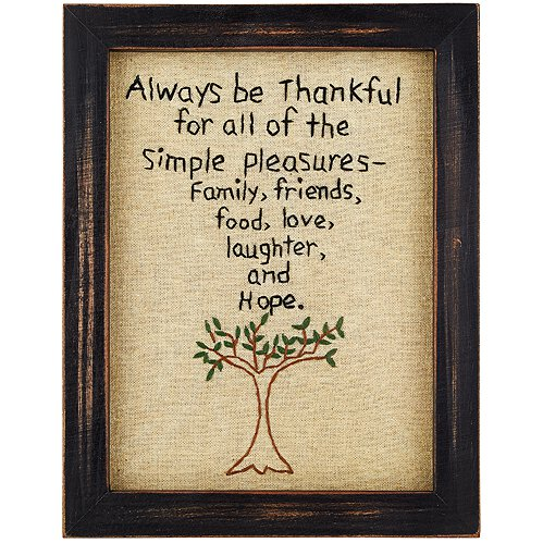 Thankful Stitched Plaque