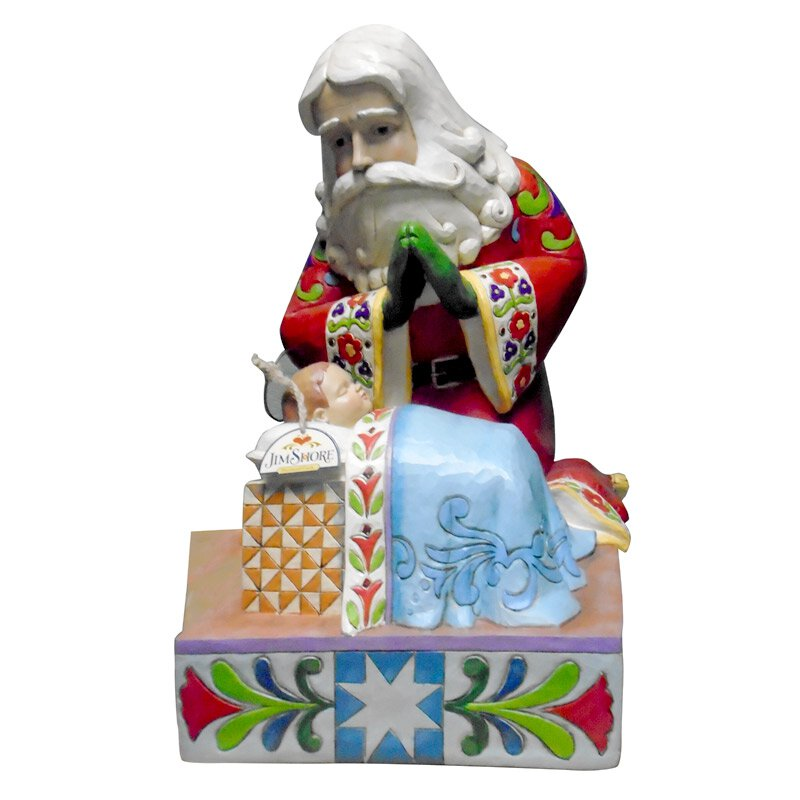 Jim Shore Santa with Baby Jesus Statue