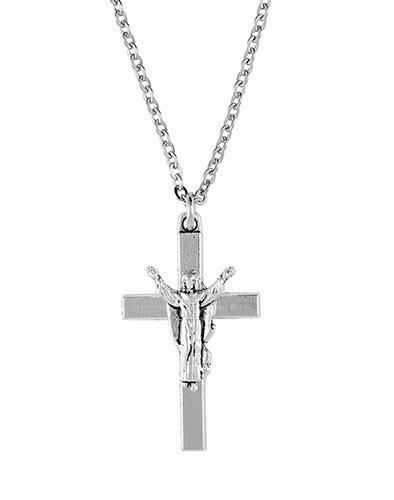 """Risen Christ Cross on 24"""" Stainless Steel Chain - 4/pk"""