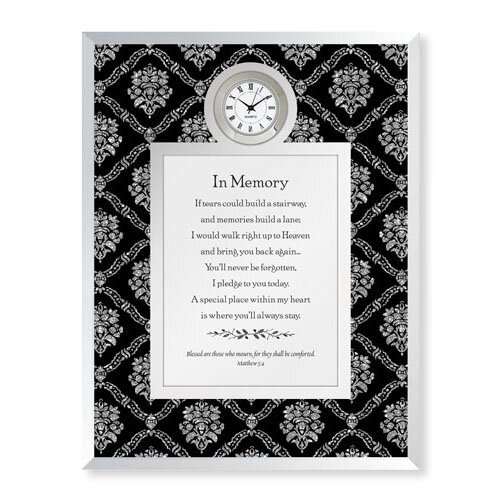 In Memory-Matthew 5:4 Framed Table Clock