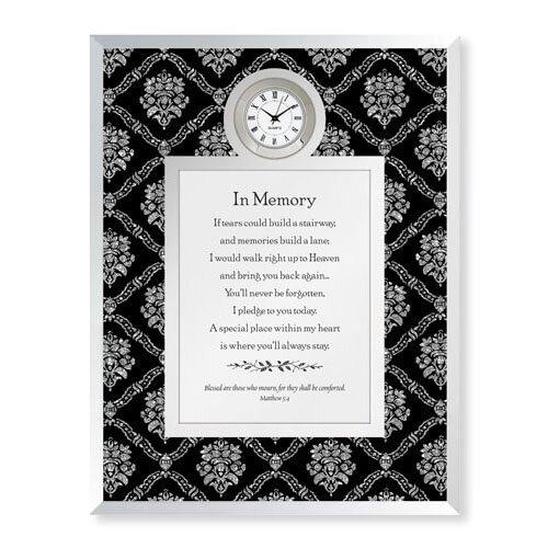 In Memory-Matthew 5:4 Framed Table Clock
