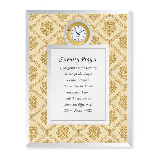 Serenity Prayer Framed Table Clock
