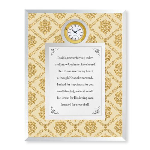 I Said A Prayer for You Today Framed Table Clock