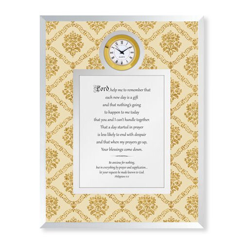 Each Day is a Gift - Philippians 4:6 Framed Table Clock