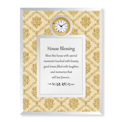 House Blessing Framed Table Clock