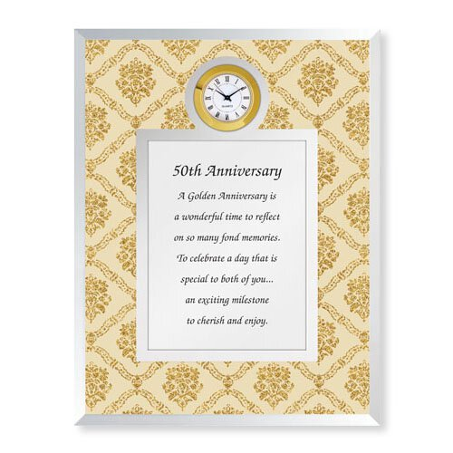 50th Anniversary Framed Table Clock