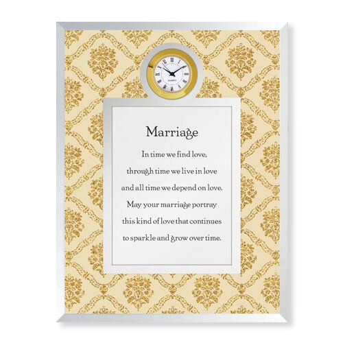 Marriage Framed Table Clock
