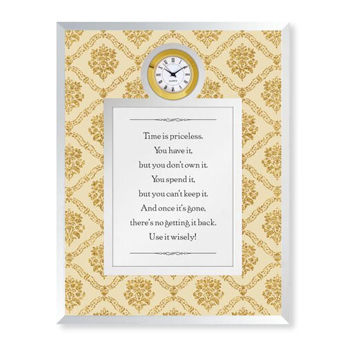 Time is Priceless Framed Table Clock