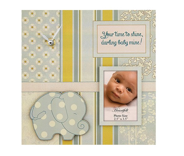 Darling Baby- Baby Photo/Clock Frame- Baby Boy