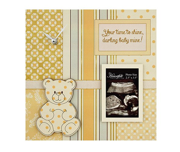 Darling Baby- Baby Photo/Clock Frame- Nongender