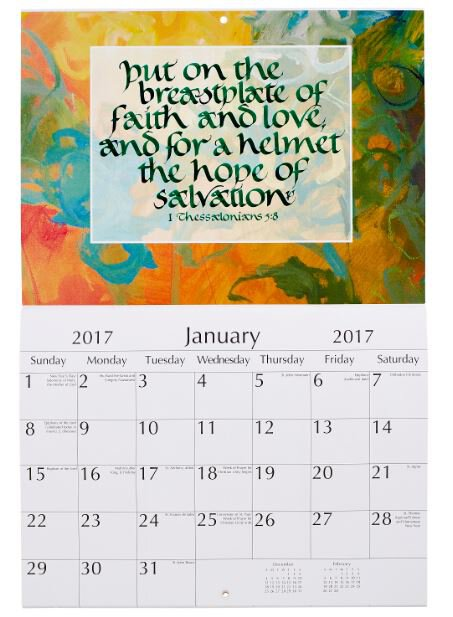2017 Faith Hope Love Biblical Wall Calendar