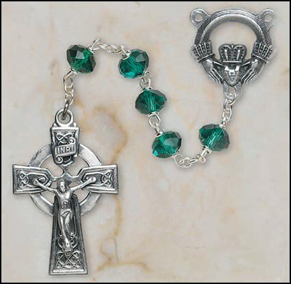 Emerald Our Lady of Knock Irish Rosary