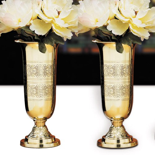 Altar Vases with Filigree Design - Set of 2