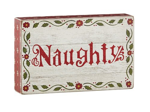 Jim Shore - Naughty - Box Sign