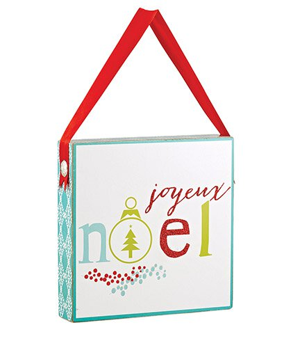 Joyeux Noel Box Plaque