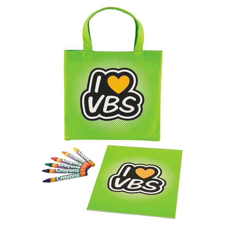 I Love VBS Tote Bag Coloring Set - 12 sets/pk