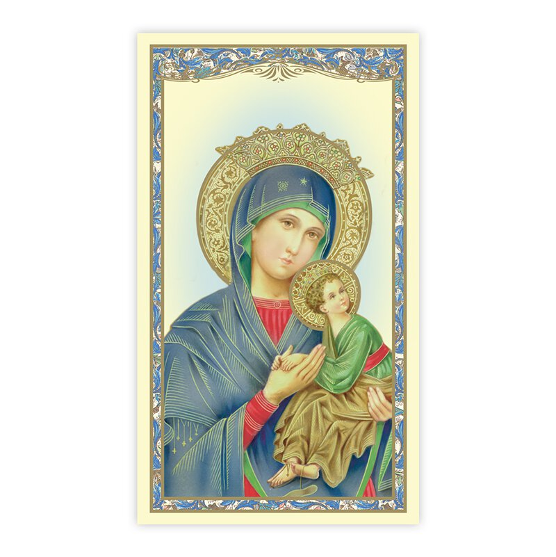 Our Lady of Perpetual Help Holy Card - 100P