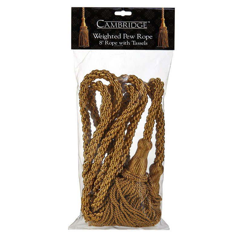 Weighted Pew Ropes/Tassels 4Pk