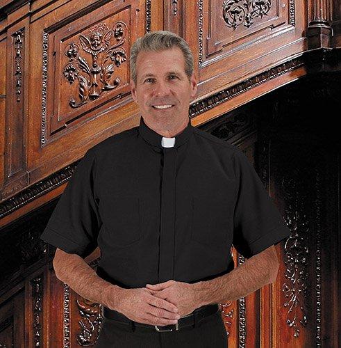 Summer Oxford Short Sleeve Clergy Shirt