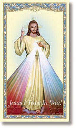 Divine Mercy Holy Card - 100/pk
