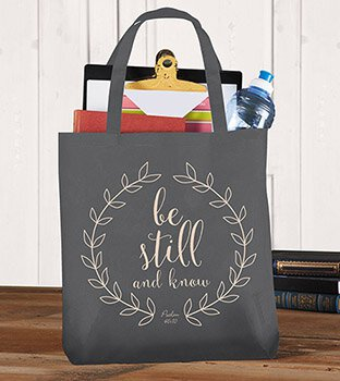 Be Still & Know Tote Bag - 12/pk
