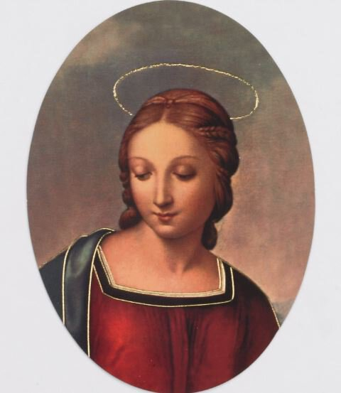 Print Oval Madonna of the Goldfinch 100 pack