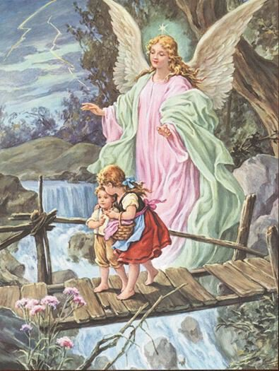 Print Guardian Angel Crossing Bridge