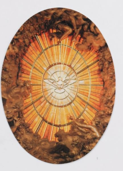 Print Oval Holy Spirit