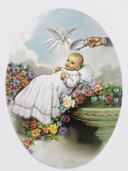 Print Oval Baptism