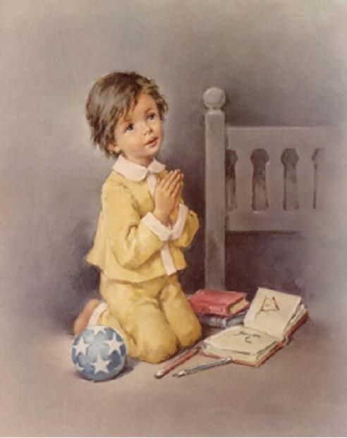 Print Boy Praying