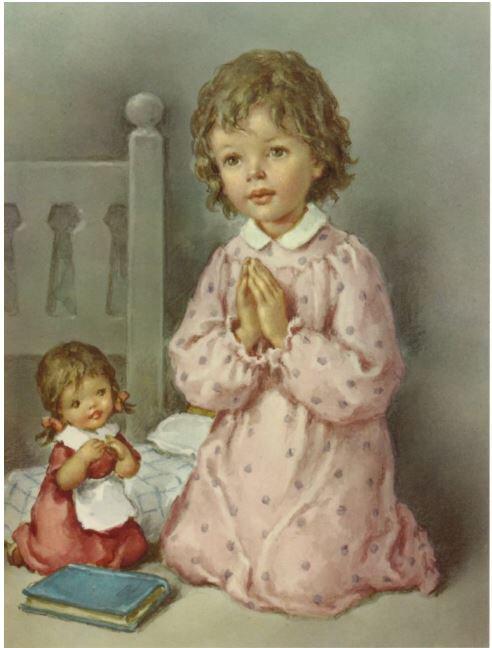 Print Girl Praying
