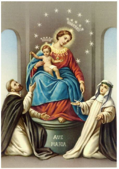 Post Card Our Lady Of Rosary