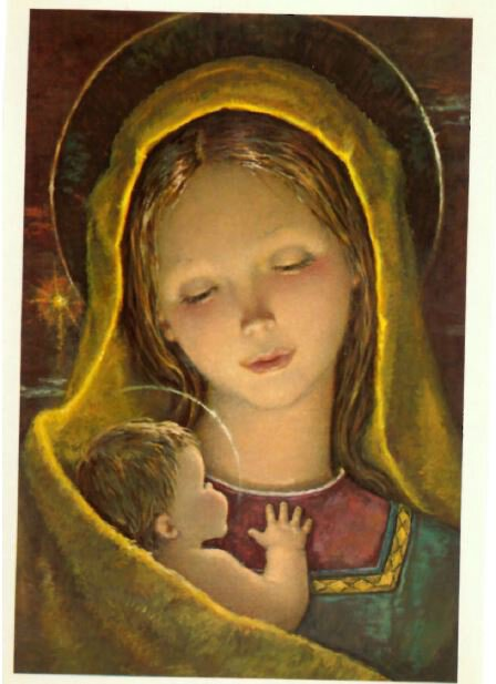Post Card Madonna And Child