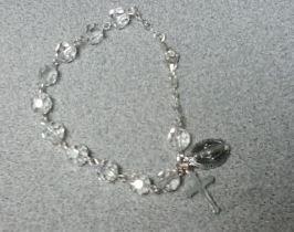 Rosary Bracelet  Crystal