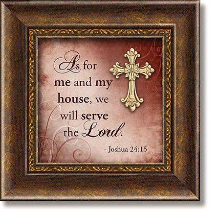Joshua 24:15 Framed Tabletop Christian Verse