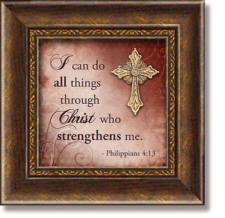 Philippians 4:13 Framed Tabletop Christian Verse
