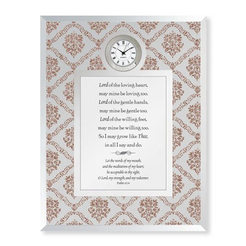 Lord of the Loving Heart - Psalm 19:14 Framed Table Clock