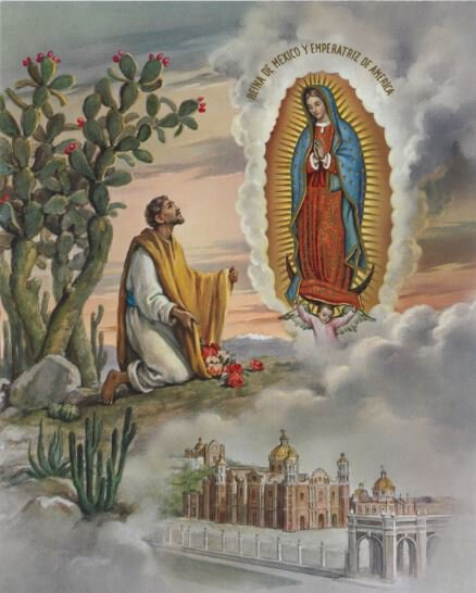 Print Our Lady Guadalupe Old Basil